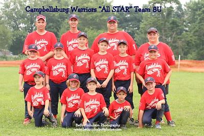Campbellsburg WARRIORS 8U All Stars 7-1-11