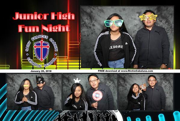 Saint Frances Cabrini Junior High Fun Night 2018