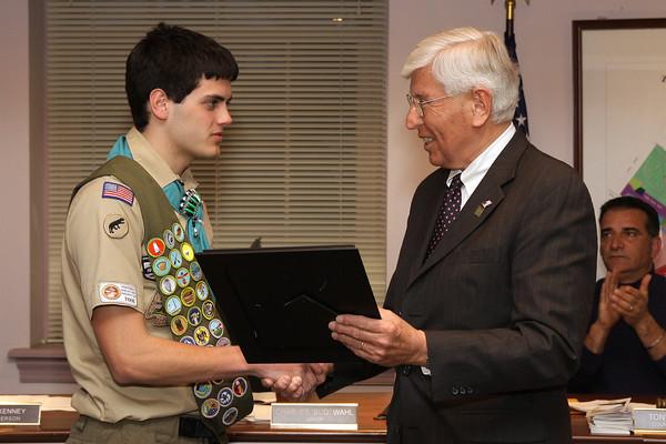 Ambler recognizes three Eagle Scouts