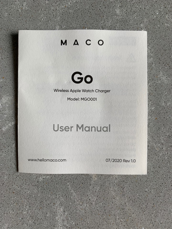 Maco Go Apple Watch Charger
