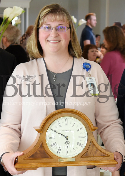 Harold Aughton/Butler Eagle: Butler County Employee of the Year, Mindy Dunkerley was recognized yesterday afternoon at the Employee Appreciation luncheon held by the Butler County Chamber of Commerce.