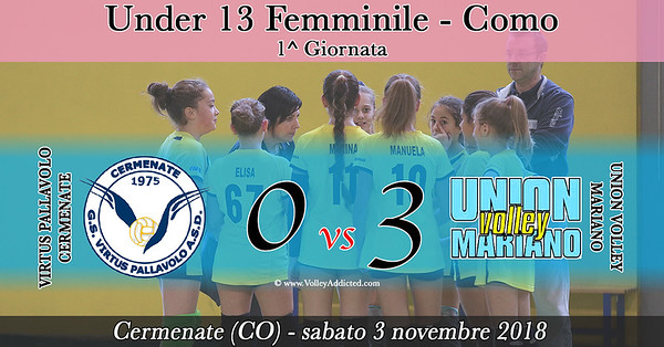 CO-u13f: 1^ Virtus Cermenate - Union Volley Mariano