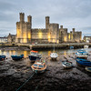 Caernarfon Castle at Low Tide, Wales