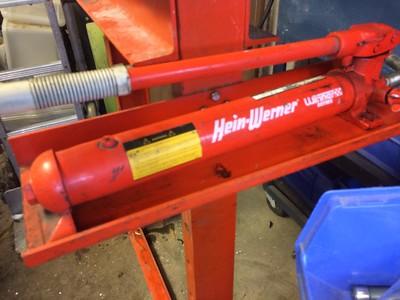 Hein werner hydraulic press 25 tons