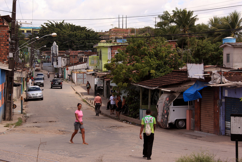 A view of the Sao Fransisco community of Camaragibe near Recife, Pernambuco state, Brazil, Jan. 10, 2013. Some 200 households in the community are faced with removal to make way for a highway which will lead to a new stadium which will host the Confederations cup in June 2013 and the World Cup in 2014. (Australfoto/Douglas Engle)