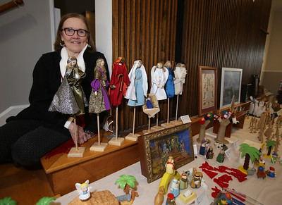 Nativity creches display in Ayer