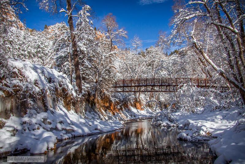 Winter Bridge to West Fork