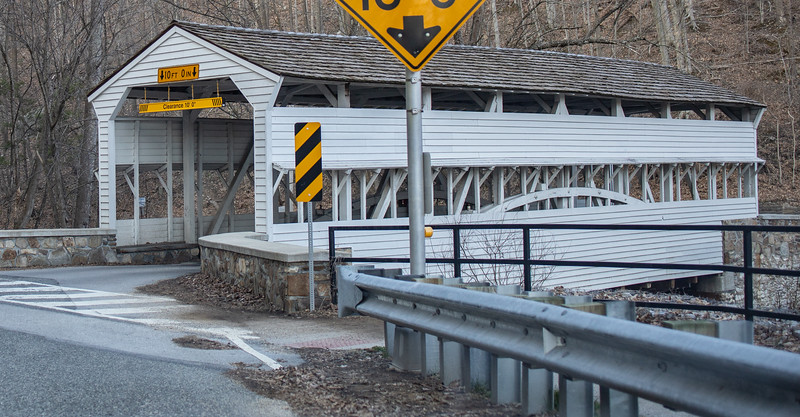 Knox Covered Bridge over the Valley Creek