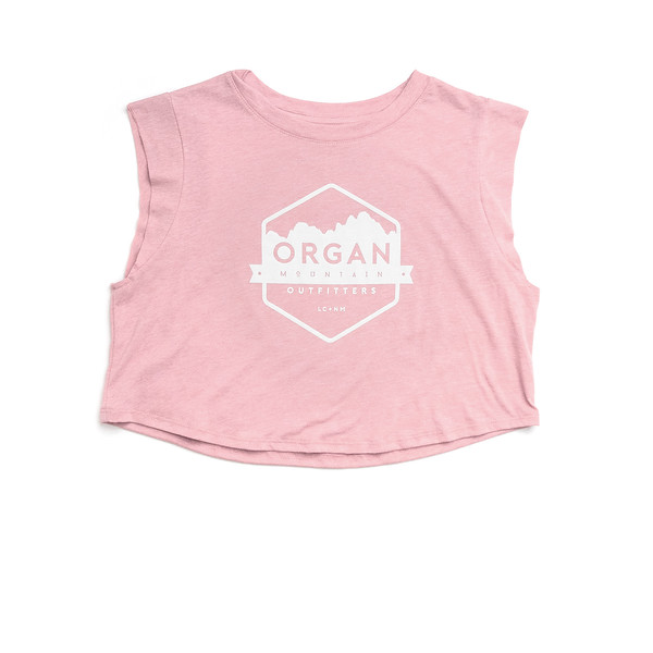 Organ Mountain Outfitters - Outdoor Apparel - Womens - Classic Festival Cropped Tank - Pink.jpg
