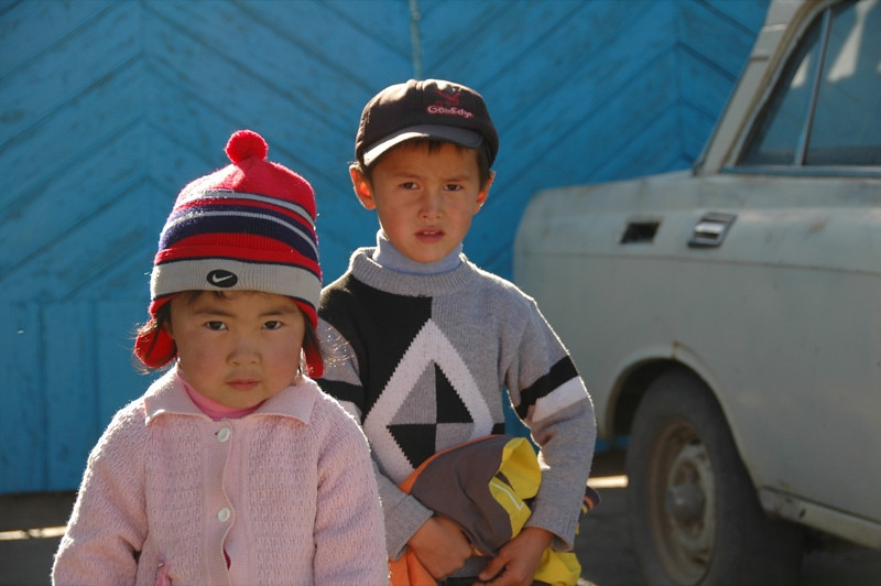 Curious Kyrgyz Kids - Kochkor, Kyrgyzstan