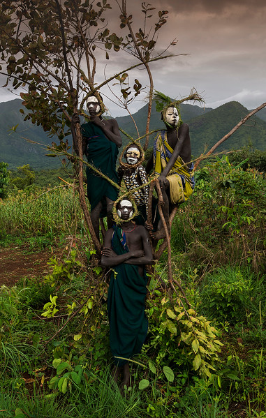 The Suri live west of the Omo river which creates a border between them and the Mursi. Their neighbours in the south are the Nyangatom, who are also their biggest enemies.  Southern Ethiopia, 2017.