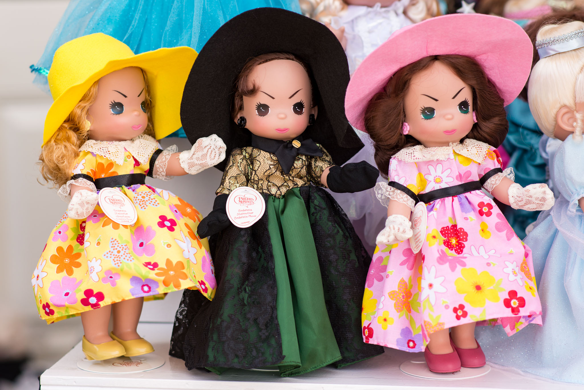 Precious Moments Disney Doll Collection: Cinderella Stepmother and Stepsisters