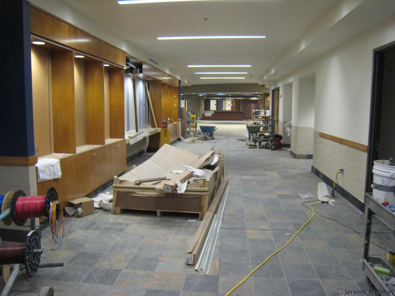 2nd floor hallway, looking north (towards bookstore)