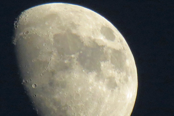 June 28:  Getting better at these moon pics .  .  .