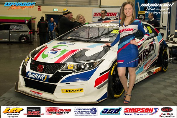 Simpson Race Exhausts Grid Girl at MWA