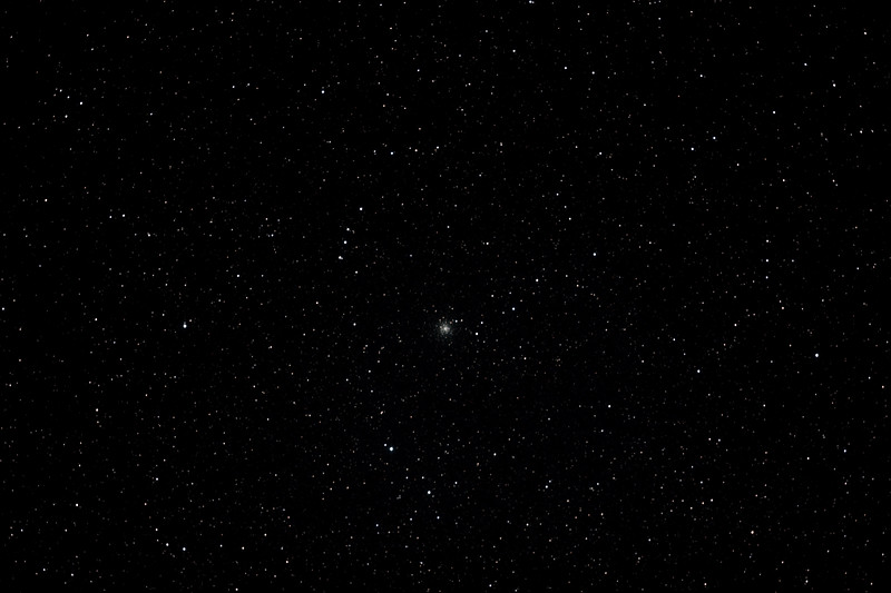 Messier M70 - NGC6681- Globular Cluster in Sagittarius - 17/08/2012 (Processed stack)  DeepSkyStacker 3.3.2 Stacked 85% of 17 Images ISO 800 60 Sec, 126 DARK @ 120 sec, 53 BIAS, 0 FLATS, Post-processed by Photoshop CS5  Telescope - Bintel BT200 f/4.0 Newtonian (borrowed from Stephen Boyd) with Baader MPCC Coma Corrector, Hutech LPS-P2 filter, Canon 40D DSLR field 64'x95', Ambient 12-11C. Mount - Skywatcher NEQ6 Pro. Guidescope - Orion ShortTube 80 with Star Shoot Auto Guider.
