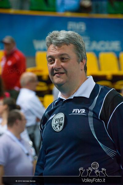 Simone Santi FIVB International Referee - Italia-Iran, World League 2013 - Modena