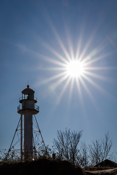 Sunburst over Whitefish Point Light