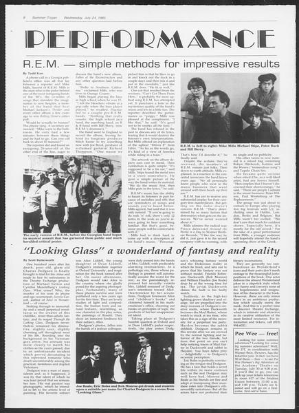 Summer Trojan, Vol. 99, No. 10, July 24, 1985