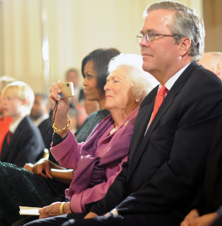 ". <p>4. JEB BUSH <p>Cleared for a 2016 run now that he has his mommy�s OK. (unranked) <p><b><a href=\'http://trailblazersblog.dallasnews.com/2014/03/barbara-bush-warms-to-jeb-bush-presidential-bid-in-2016.html/\' target=""_blank\""> HUH?</a></b> <p>   (Tim Sloan/AFP/Getty Images)"