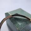 Vintage Onyx and Antique Diamond Bangle 11