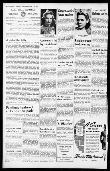 Daily Trojan, Vol. 36, No. 97, April 10, 1945