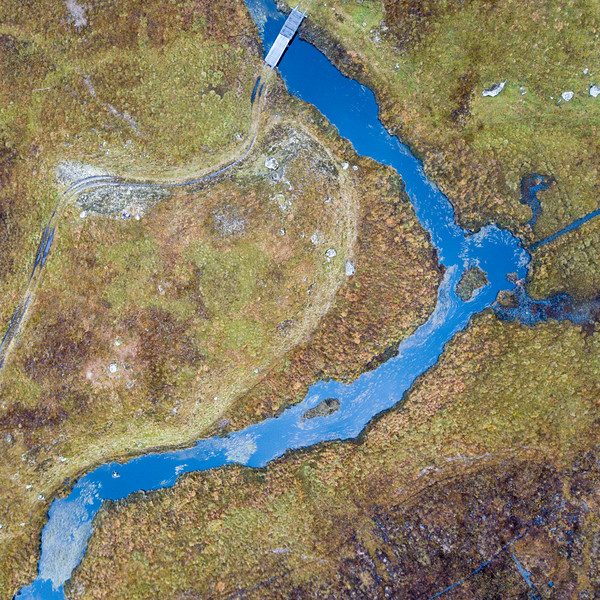 Allt na Caim river on Rannoch Moor