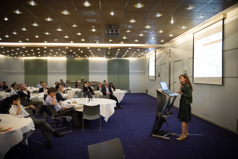 22nd International AIDS Conference (AIDS 2018) Amsterdam, Netherlands   Copyright: Marcus Rose/IAS  Photo shows: ILF Roundtable. Rapid Access to New Technology and Reaching the Unreached. Speaker: Jennifer Cohn.