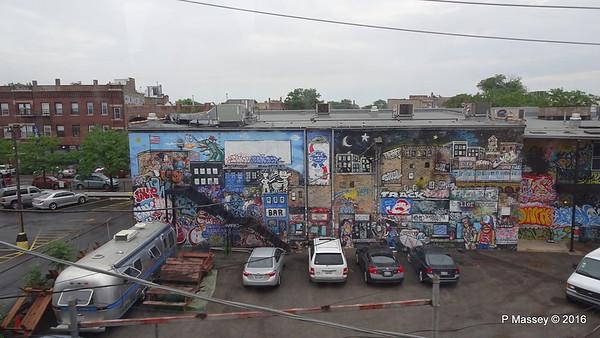 Mostly Rubbish Views in Heavy Rain ORD/Downtown CTA Blue Line 1 Jun 2016