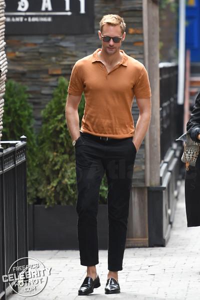 Alexander Skarsgard Goes Sockless In Orange In Canada