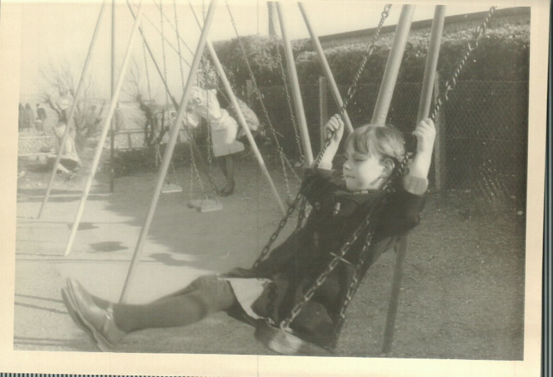 Jean at the playground on the way to Black Rock