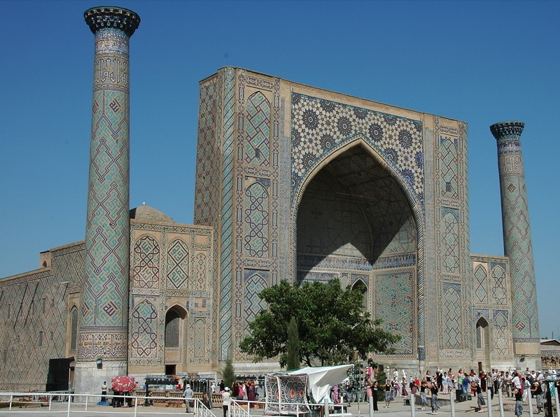 Tilla-Kari Medressa at the Registan - Samarkand, Uzbekistan