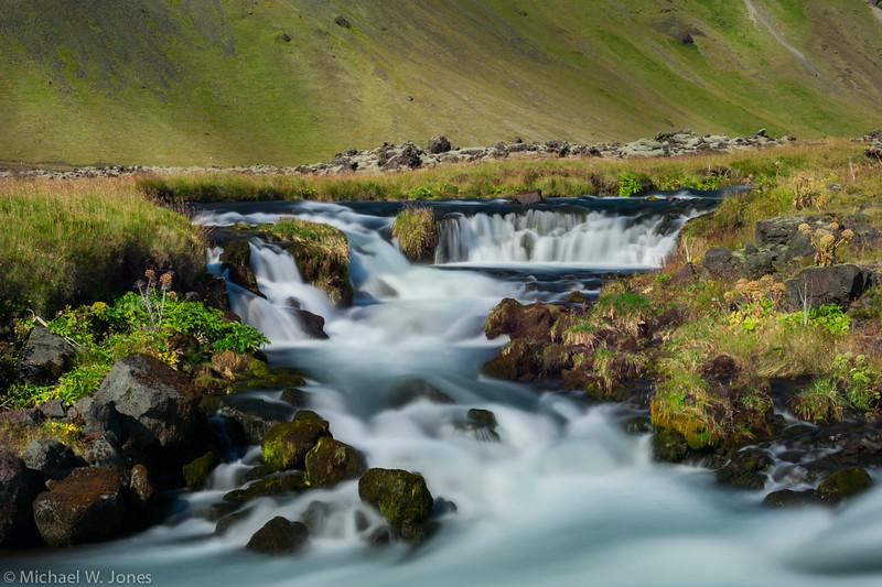 Roadside waterfall, Hwy 1, Southern Iceland