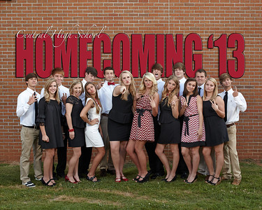Central Homecoming Court 2013