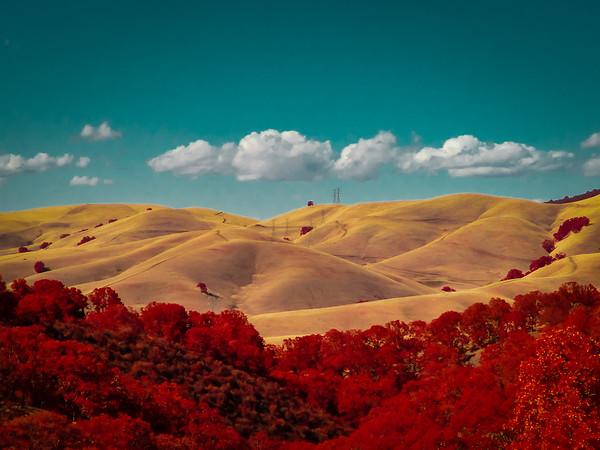 Diablo Foothills infrared image