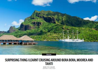 Surprising Thing I Learnt Cruising Around Bora Bora, Moorea and Tahiti