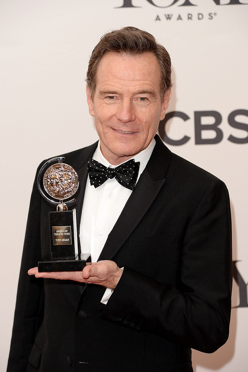 . Bryan Cranston, winner of the Best Performance by an Actor in a Leading Role in a Play for �All The Way� poses in the press room during the 68th Annual Tony Awards on June 8, 2014 in New York City.  (Photo by Andrew H. Walker/Getty Images for Tony Awards Productions)