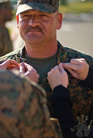 Master Gunnery Sergeant Bunnell's Promotion (USMC)