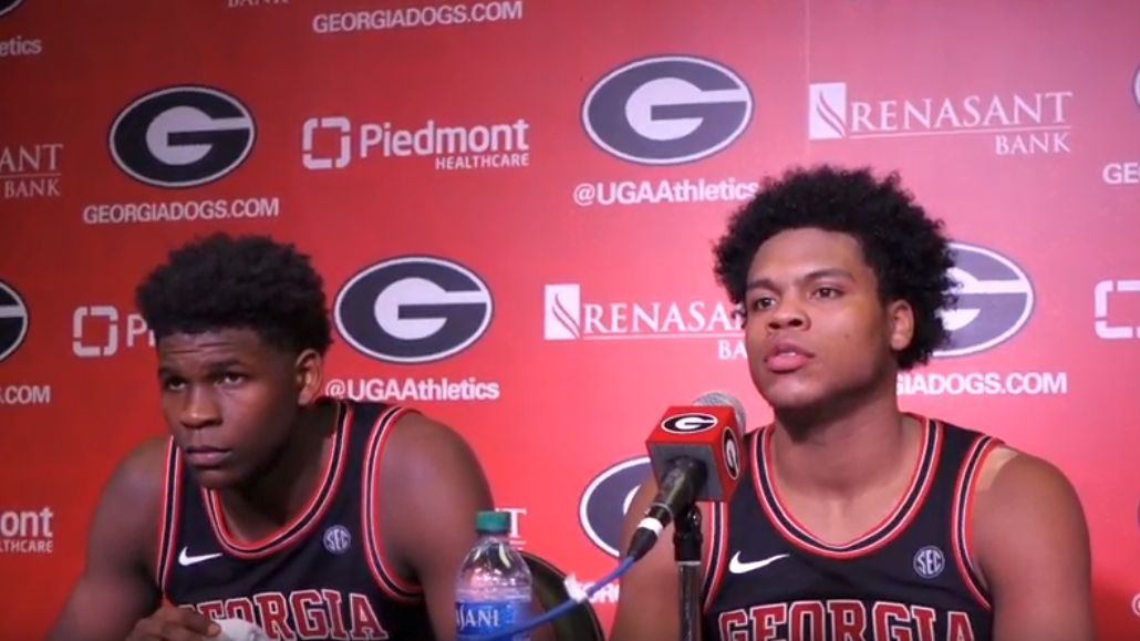 Anthony Edwards (left) and Sahvir Wheeler (right) -  Georgia vs. Texas A&M Postgame Interview - Saturday, February 01, 2020