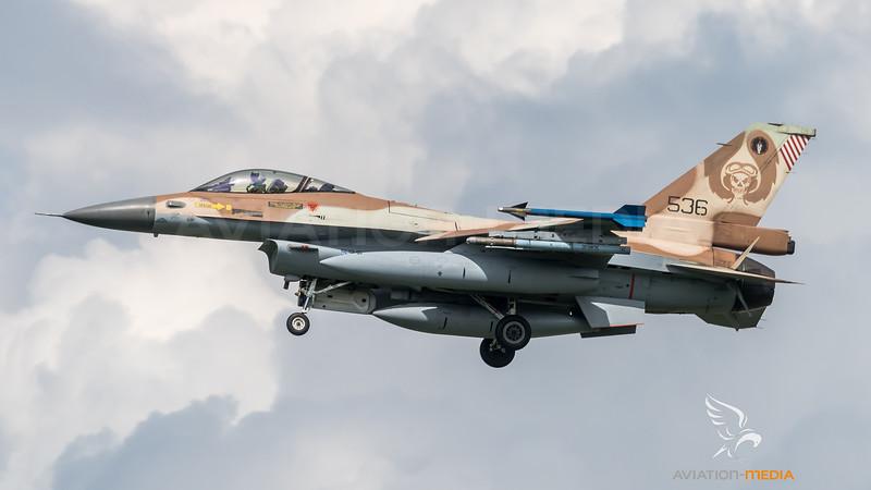 Israeli Air Force 101 Squadron / Lockheed Martin F-16C Block 40 / 536