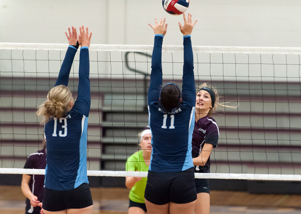 09/24/18 Wesley Bunnell | Staff Bristol Central volleyball defeated Middletown on Monday evening at Bristol Central High School. Emily Ericson (6).
