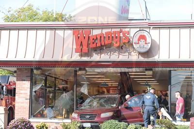 West Babylon F.D. w/ Car Into Building Montauk Hwy.(Wendy's)  10/21/17