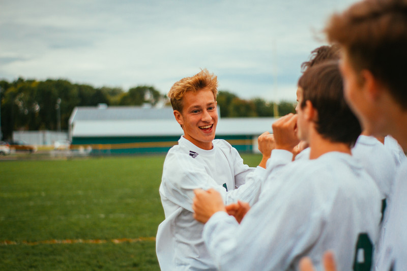 Holy Family Boys Varsity Soccer vs. Hutchinson, 9/26/19: Bishop Schugel '21 (11)