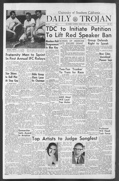 Daily Trojan, Vol. 54, No. 113, May 07, 1963