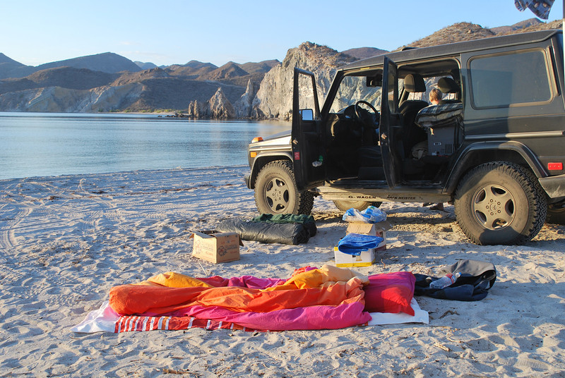 rooftop tents are for wimps - I still sleep on the ground with nothing more than my down comforter