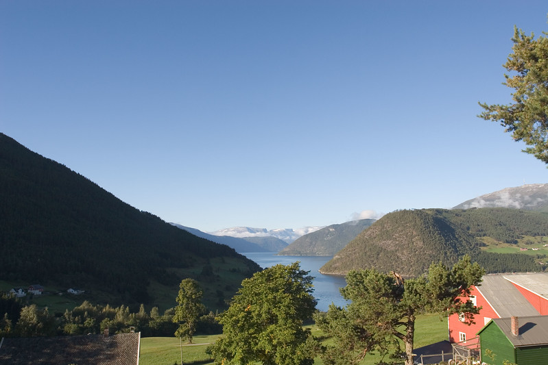 View over Sognefjorden from Kaupanger.
