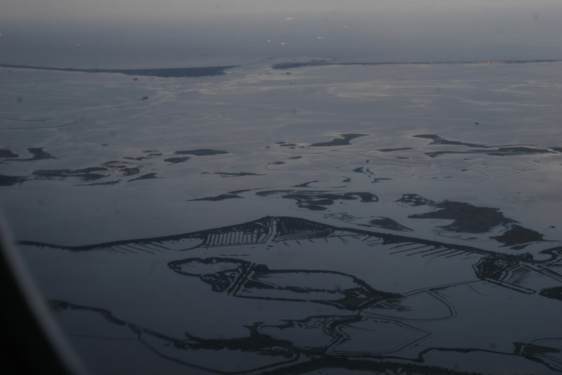 Denmark from the plane
