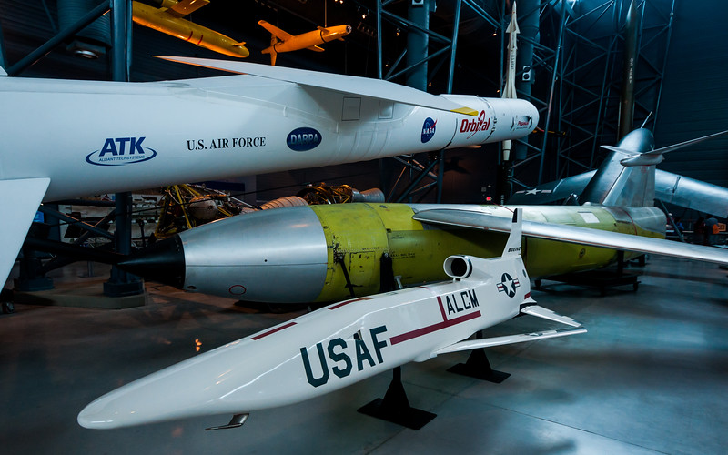 Panoramic View of Missiles at Air and Space Museum