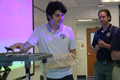 Engineering Class, bridge testing 10/11/19