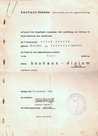 Bauhaus Diplom - 1929